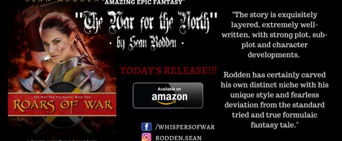 """Nominated for Best Self-Published Fantasy Novel """"ROARS OF WAR"""" by Sean Rodden"""